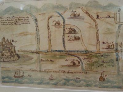Mapa de las partidas de Les Sorts de la Mar, la Devesa y El Molinell